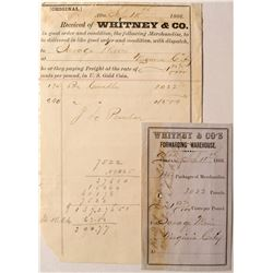 Whitney & Company Ephemera (to Savage Mine in Virginia City)  (54077)