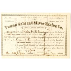 Vulcan Gold and Silver Mining Stock, Ouray- 1880  (41343)
