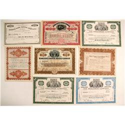 Montana Mining Certificates (9)  (56167)