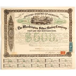 Washington Silver Mining Co. Bond, Austin, 1867  (62856)