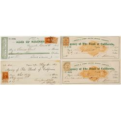 Gould and Curry Silver Mining Checks (4)  (59704)