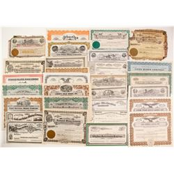 45 Nevada Mining Stock Certificates (with some real treasures for sure!)  (99495)