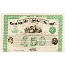 Great Republic Gold & Silver Mining Co. Of Virginia Bond  (54352)