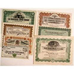 Nevada Mining Certificates (7)  (56169)