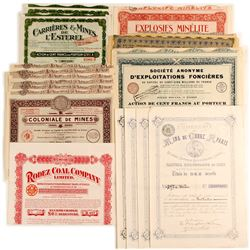 A Variety of Foreign Mine Stocks & Bonds/ One Coal Company Bond   (81807)