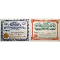 Two Different Huachuca Mining District Stock Certificates   (66025)