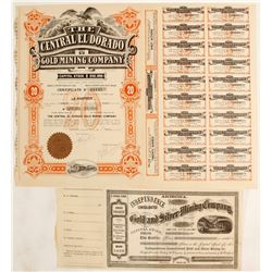 Colorado District Mining Stock Certificates ( 2 count)  (62944)