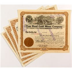 Tom Reed Gold Mines Certificates (4 count)  (51643)