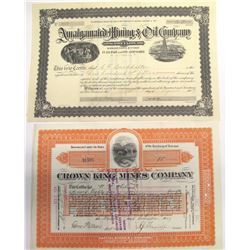 Two Pine Grove Mining District Stock Certificates   (66019)