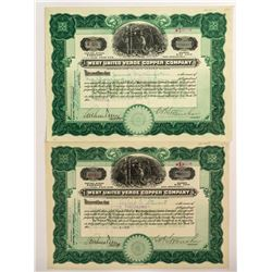 West United Verde Copper Company Stock Certificates  (51766)