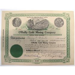 O'Reilly Gold Mining Company Stock Certificate  (66011)
