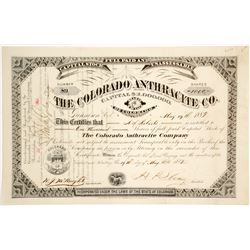 Colorado Anthracite Company Stock Certificate  (62768)