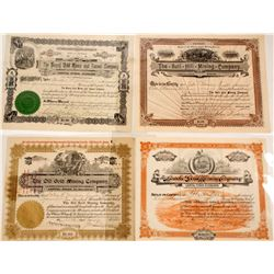 Cripple Creek, CO. Mining Certificates (5 count)  (58755)