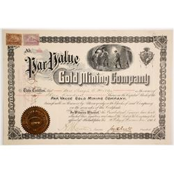 Par Value Gold Mining Company Stock Certificate  (62821)
