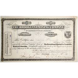 Brookland Mining Stock Certificate  (64017)