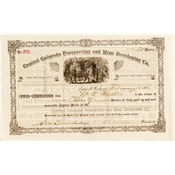 Central Colorado Prospecting and Mine Development Co. Stock Certificate  (54361)