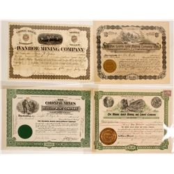Colorado Mining Stock Certificates (4 count)  (58753)