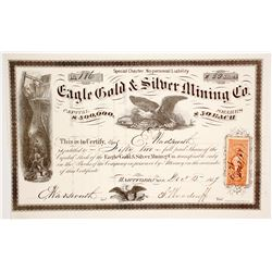 Eagle Gold & Silver Mining Co. Stock Certificate  (62838)