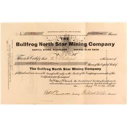 Bullfrog North Star Mining Company Stock Certificate  (52259)