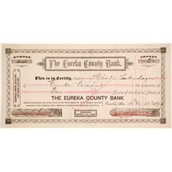 Eureka County Bank Stock Certificate  (74077)
