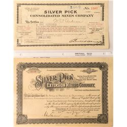 Silver Pick Mines Stock Certificates  (53673)