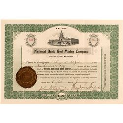 National Bank Gold Mining Company Certificate  (52260)