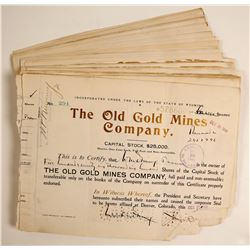 Old Gold Mines Stocks  (80827)