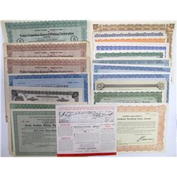 Generic Named Canadian Mining Stock Certificates  (60480)