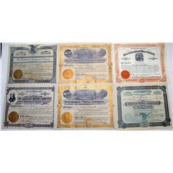 Mexican Mining Stock Certificate Suite  (66030)