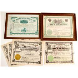 Western Mining Stock Certificates  (86369)