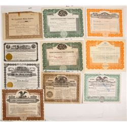 Western Mining Stock Certs. (10 count)  (61729)