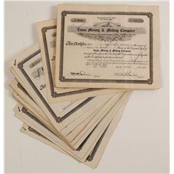 Zuma Mining and Milling Stock Certificates  (86365)