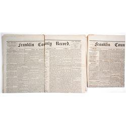 Rare Union Missouri Newspapers, 1874-5  (63906)
