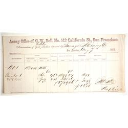 GW Bell Assay Receipt for Comstock's Savage Mine Ore  (65050)