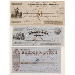 Rhodes & Co Checks, 3 Different  (87457)