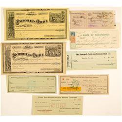 Nevada Check Collection (Comstock, Railroad, Mining)  (54588)