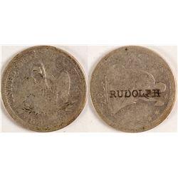 J.F. Rudolph Counterstamped Quarter  (78554)
