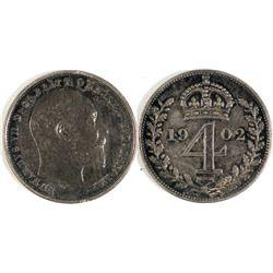 1902 English 4 Pence  (74004)