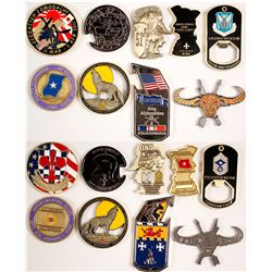 Nine US ARMY Challenge Coins - Various Designs  (80209)