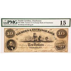 Farmers & Exchange Bank of Charleston $10  (78463)