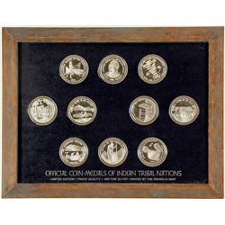Franklin Mint - Coin-Medals of Indian Tribal Nations - VOLUME 4, Set 2  (79573)
