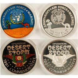 "Operation ""Desert Storm"" Silver Medallions - Set of 2  (79515)"