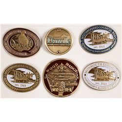 Six Hiking Staff Medallions  (80214)