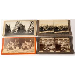 Four Chinese in San Francisco Stereoviews  (50666)