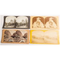 Three Mormon Stereoviews Plus One Other Utah  (54735)