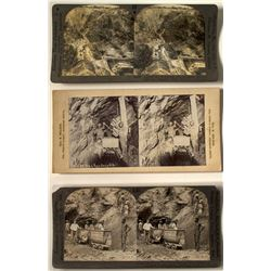3 South Africa Diamond Mining Stereoviews  (46233)