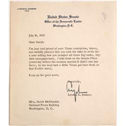 United States Senate Letter Signed by Lyndon B. Johnson  (60143)