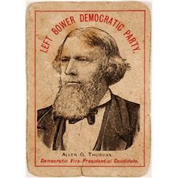 Allen G. Thurman Political Card  (63164)