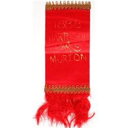 Harrison/ Morton Campaign Ribbon  (61902)