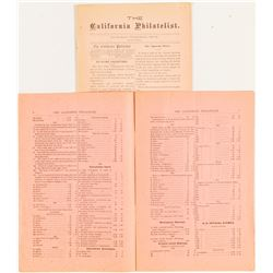 The California Philatelist, 2 Issues  (53613)